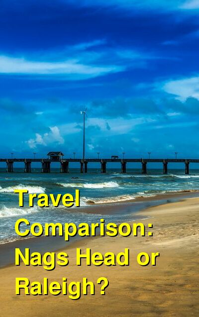 Nags Head vs. Raleigh Travel Comparison