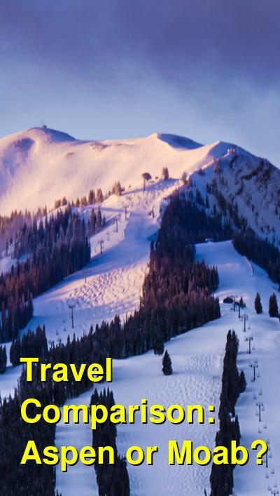 Aspen vs. Moab Travel Comparison