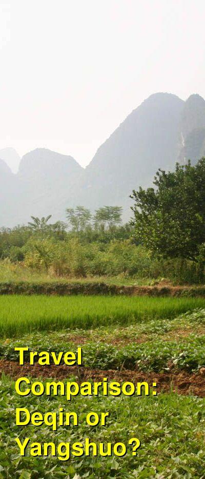 Deqin vs. Yangshuo Travel Comparison
