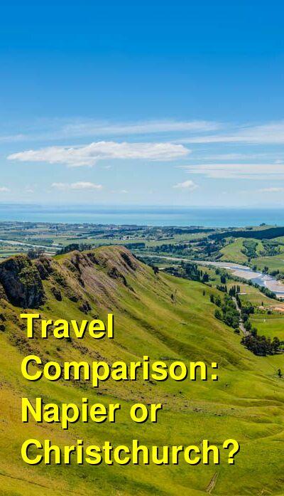 Napier vs. Christchurch Travel Comparison