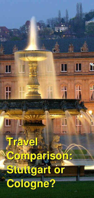 Stuttgart vs. Cologne Travel Comparison