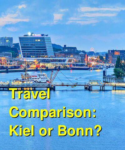 Kiel vs. Bonn Travel Comparison