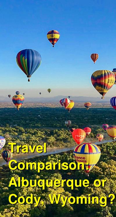 Albuquerque vs. Cody, Wyoming Travel Comparison