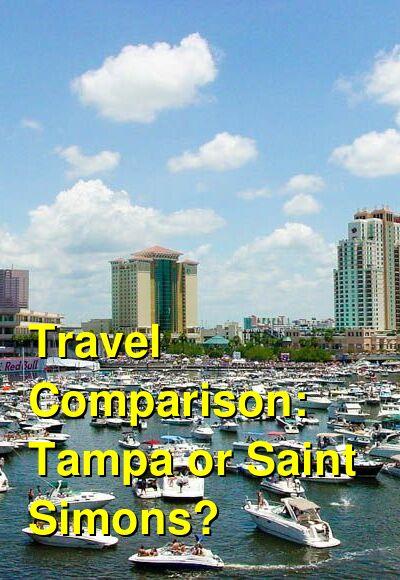 Tampa vs. Saint Simons Travel Comparison