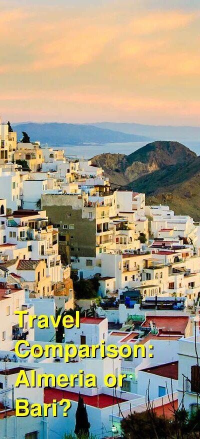 Almeria vs. Bari Travel Comparison