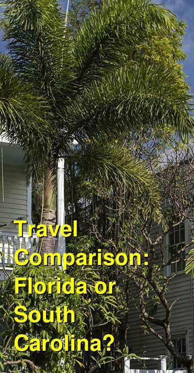 Florida vs. South Carolina Travel Comparison