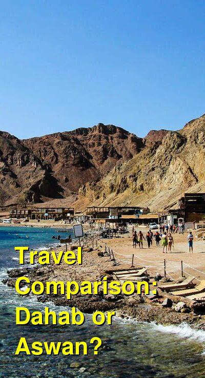 Dahab vs. Aswan Travel Comparison