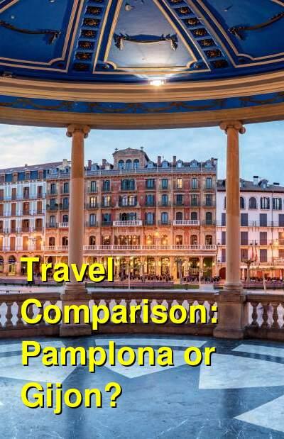 Pamplona vs. Gijon Travel Comparison