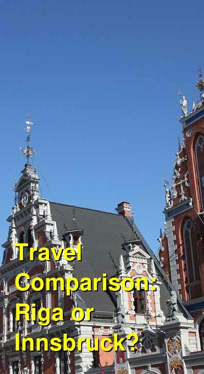Riga vs. Innsbruck Travel Comparison