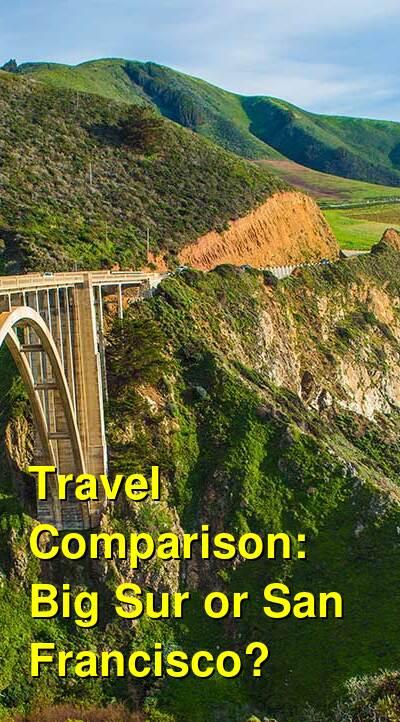 Big Sur vs. San Francisco Travel Comparison