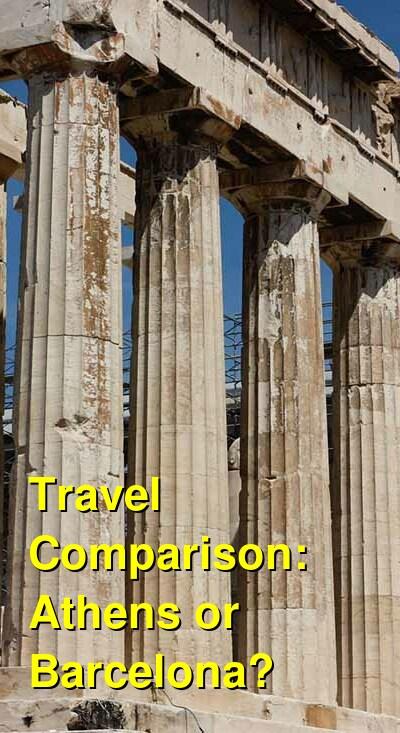 Athens vs. Barcelona Travel Comparison