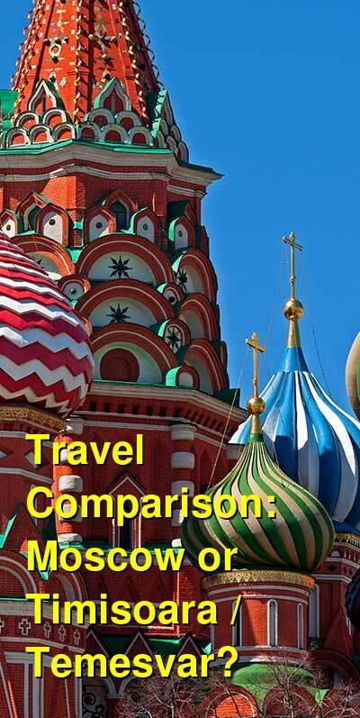 Moscow vs. Timisoara / Temesvar Travel Comparison