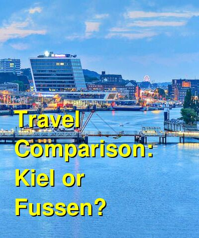Kiel vs. Fussen Travel Comparison