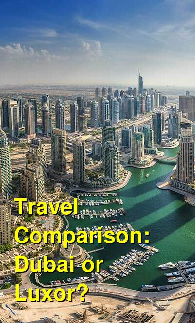 Dubai vs. Luxor Travel Comparison