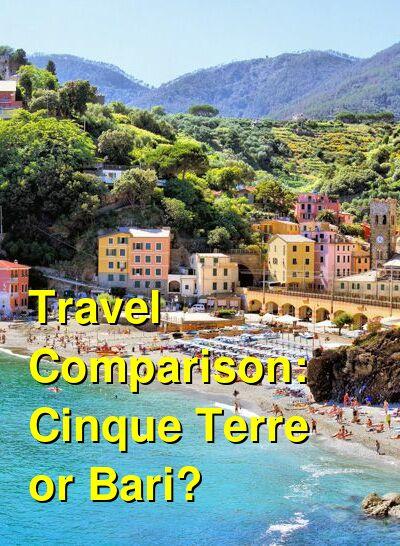 Cinque Terre vs. Bari Travel Comparison