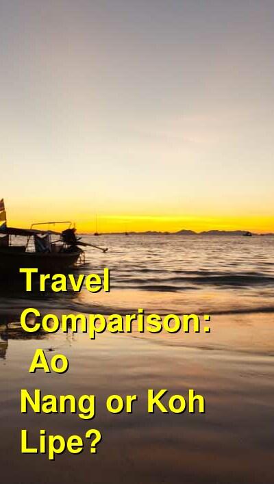 Ao Nang vs. Koh Lipe Travel Comparison