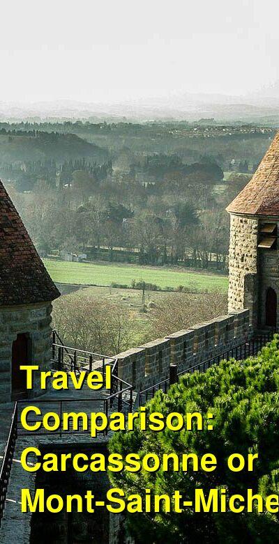 Carcassonne vs. Mont-Saint-Michel Travel Comparison