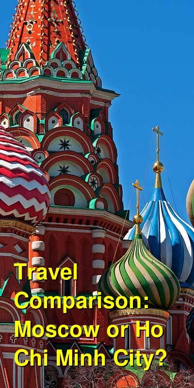 Moscow vs. Ho Chi Minh City Travel Comparison