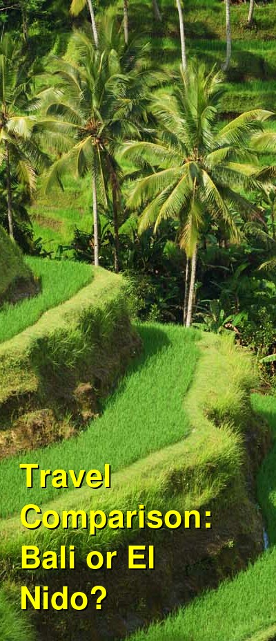 Bali vs. El Nido Travel Comparison