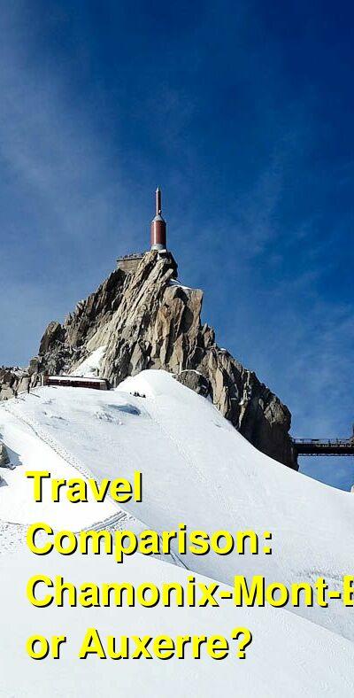 Chamonix-Mont-Blanc vs. Auxerre Travel Comparison
