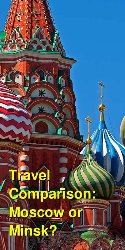 Moscow vs. Minsk Travel Comparison