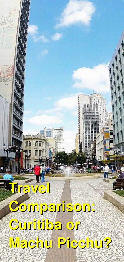 Curitiba vs. Machu Picchu Travel Comparison