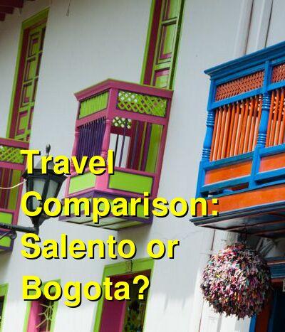 Salento vs. Bogota Travel Comparison