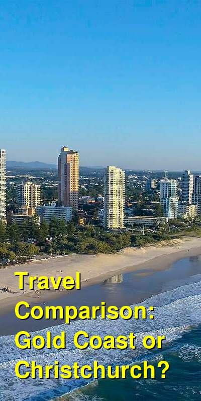 Gold Coast vs. Christchurch Travel Comparison