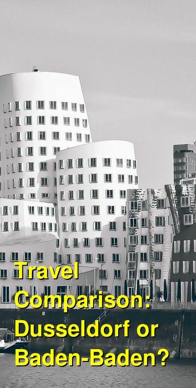 Dusseldorf vs. Baden-Baden Travel Comparison