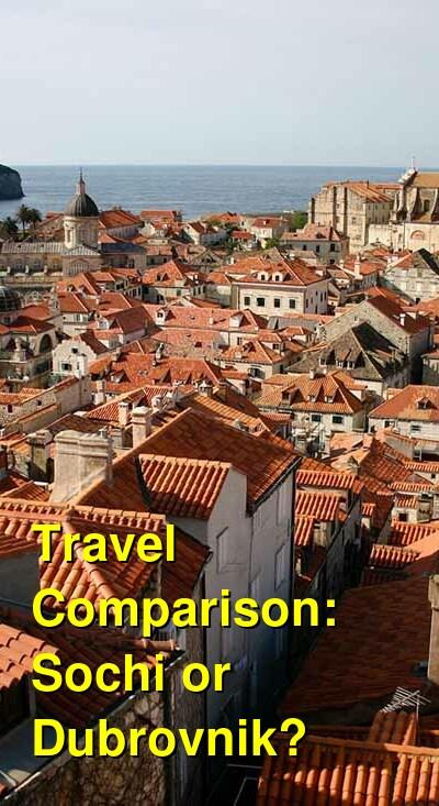 Sochi vs. Dubrovnik Travel Comparison