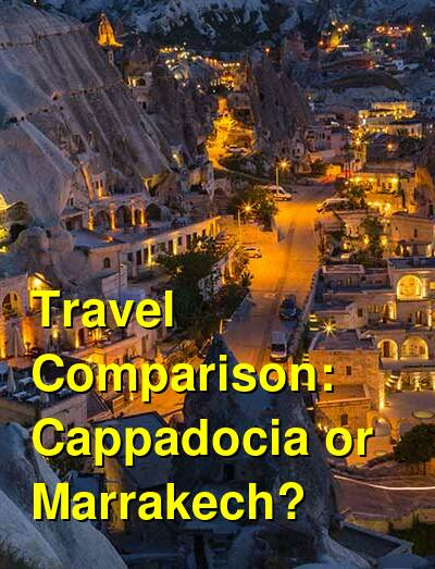 Cappadocia vs. Marrakech Travel Comparison