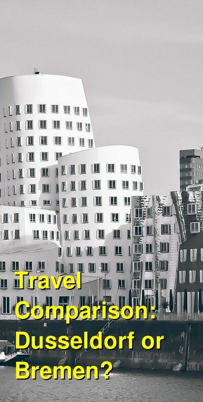 Dusseldorf vs. Bremen Travel Comparison