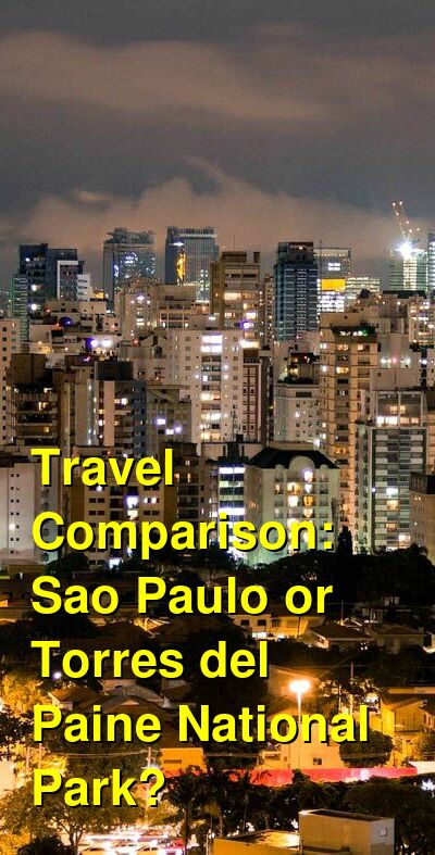 Sao Paulo vs. Torres del Paine National Park Travel Comparison