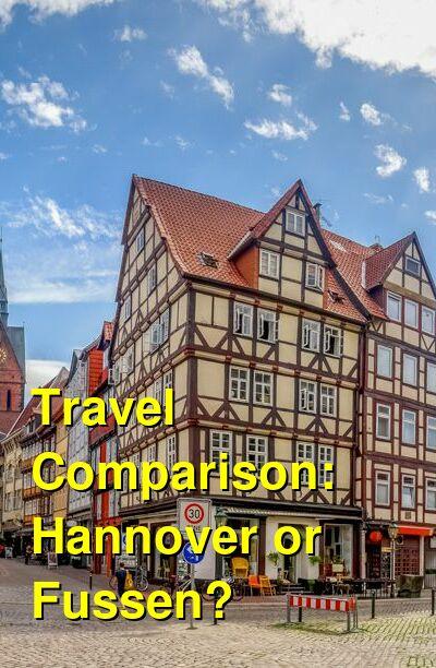 Hannover vs. Fussen Travel Comparison
