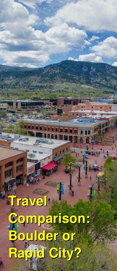 Boulder vs. Rapid City Travel Comparison