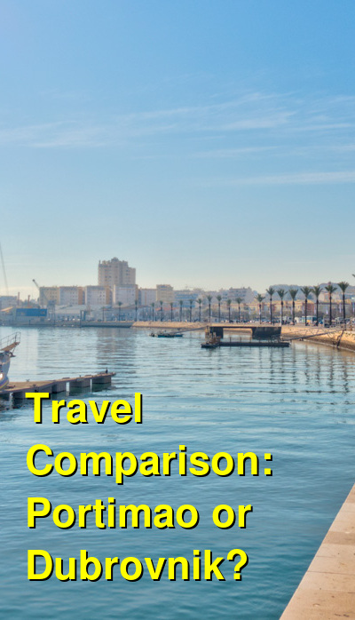 Portimao vs. Dubrovnik Travel Comparison