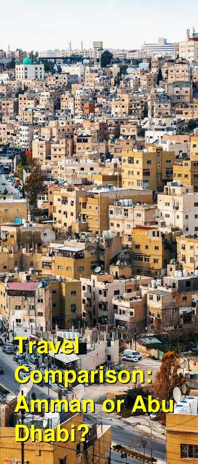 Amman vs. Abu Dhabi Travel Comparison