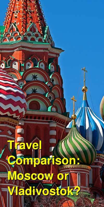Moscow vs. Vladivostok Travel Comparison