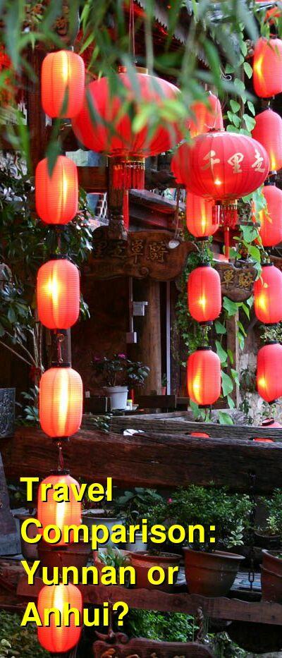 Yunnan vs. Anhui Travel Comparison