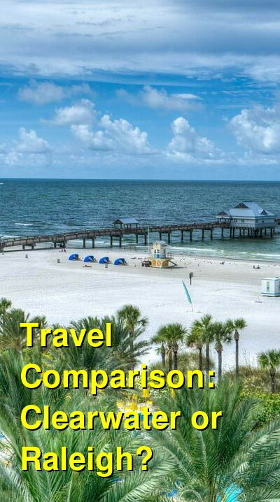 Clearwater vs. Raleigh Travel Comparison