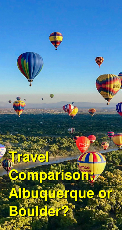Albuquerque vs. Boulder Travel Comparison