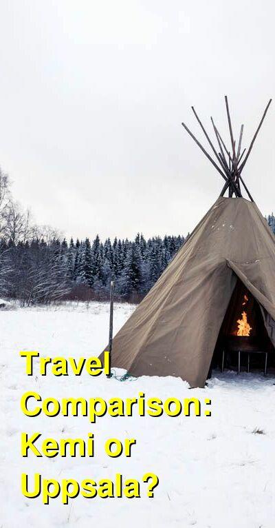 Kemi vs. Uppsala Travel Comparison