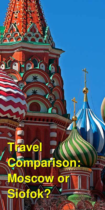 Moscow vs. Siofok Travel Comparison