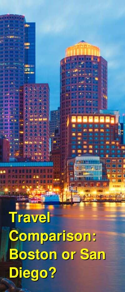 Boston vs. San Diego Travel Comparison