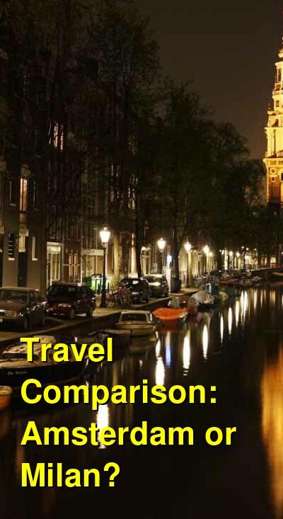 Amsterdam vs. Milan Travel Comparison