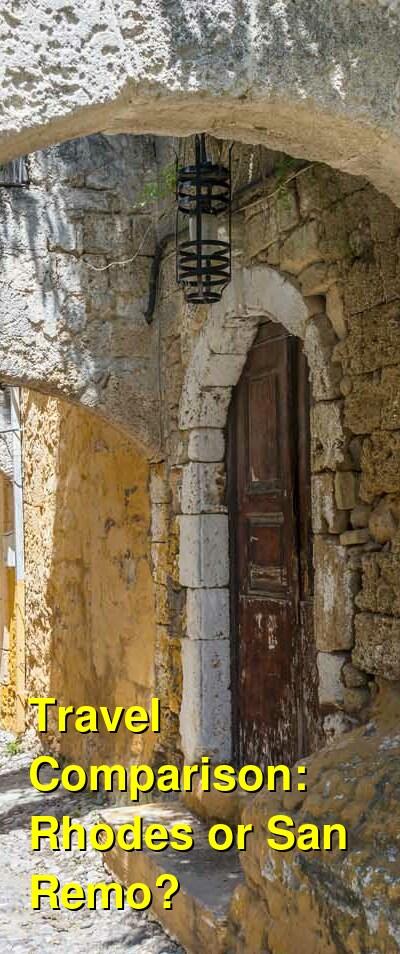Rhodes vs. San Remo Travel Comparison