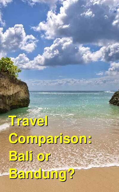 Bali vs. Bandung Travel Comparison