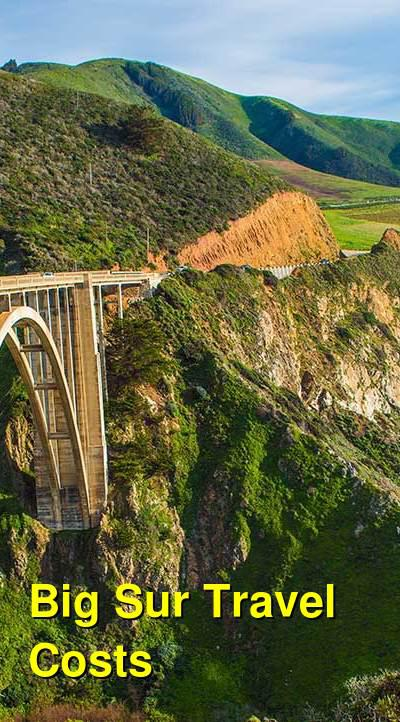 Big Sur Travel Cost - Average Price of a Vacation to Big Sur: Food & Meal Budget, Daily & Weekly Expenses | BudgetYourTrip.com