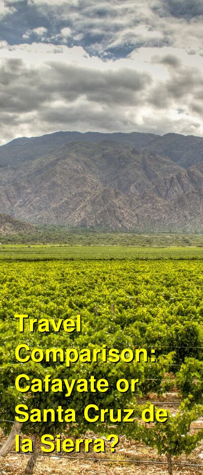 Cafayate vs. Santa Cruz de la Sierra Travel Comparison