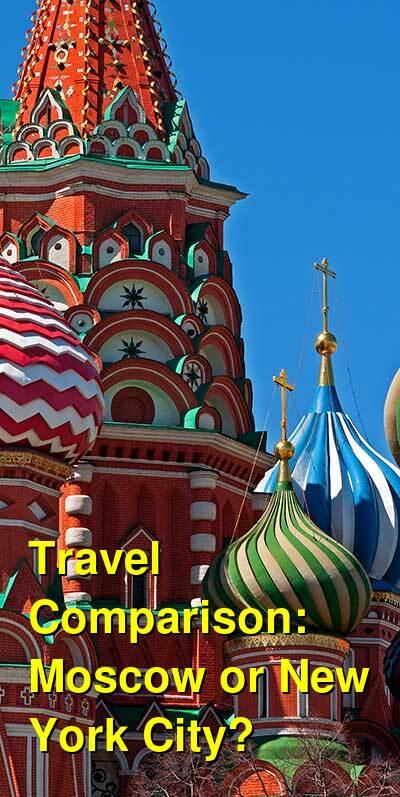 Moscow vs. New York City Travel Comparison